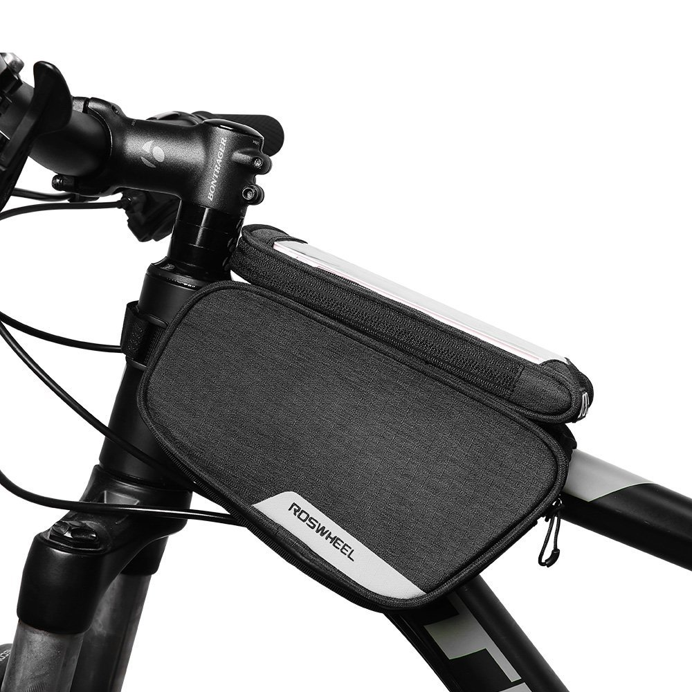 Roswheel Essentials Series 121462 Water Resistant Bike Bicycle Frame Top Tube Double Bag with Phone Case