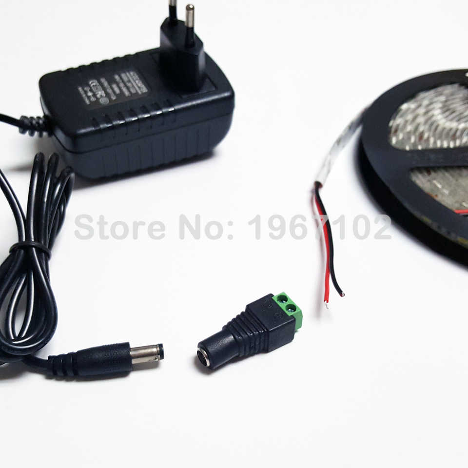 5.5mm x 2.1mm kobieta lub mężczyzna DC Power Plug Adapter do 2835 5630 5050 3528 pojedynczy kolorowy pasek LED światła i kamery monitoringu