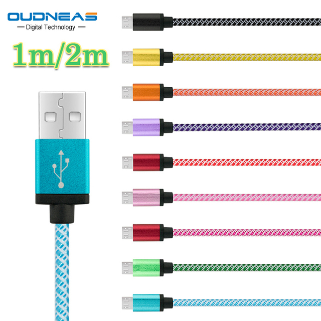 OUDNEAS Micro USB Cable 5V 2A Quick Charge Nylon Cord Data Sync Wire For Samsung Galaxy HTC Lenovo Huawei Phone Microusb