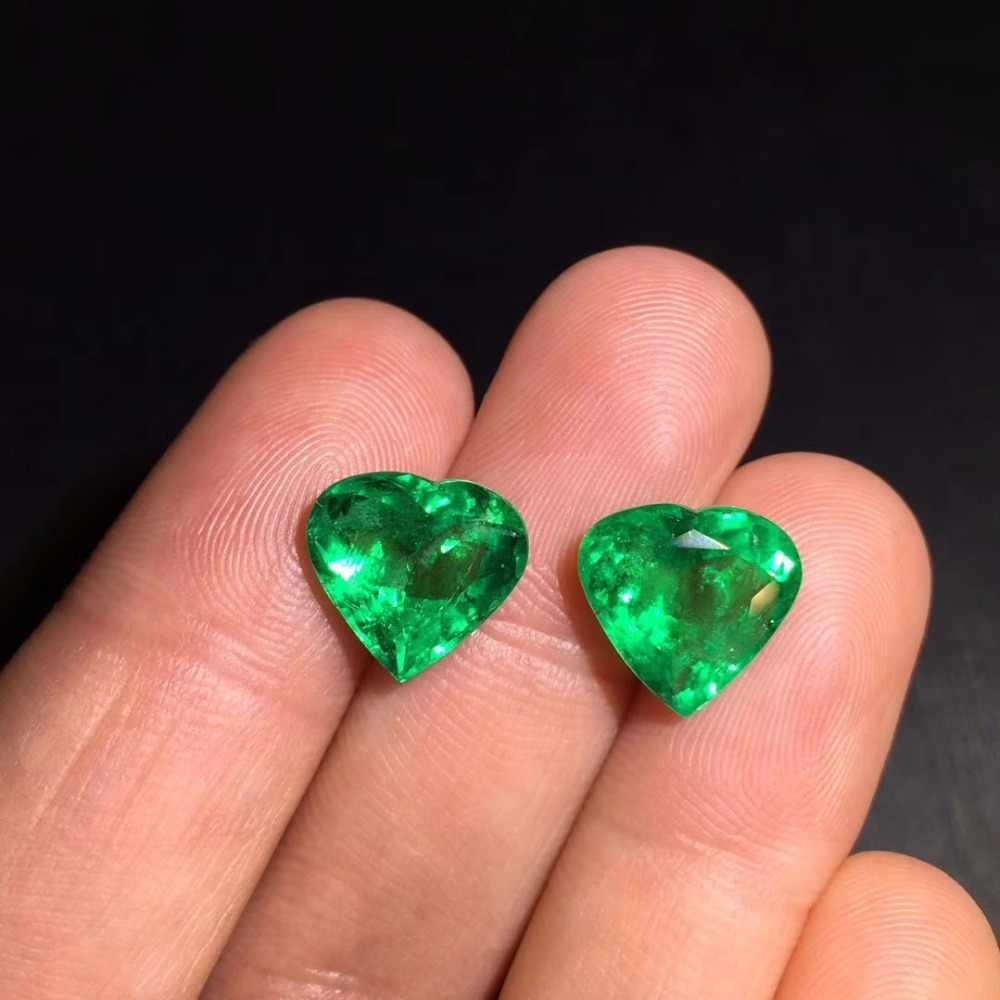 AIGS Cert תכשיטי 7.23ct פיאות חי ירוק טבעי אמרלד אבני חן Loose אבני חן רופף אבן אבני חן