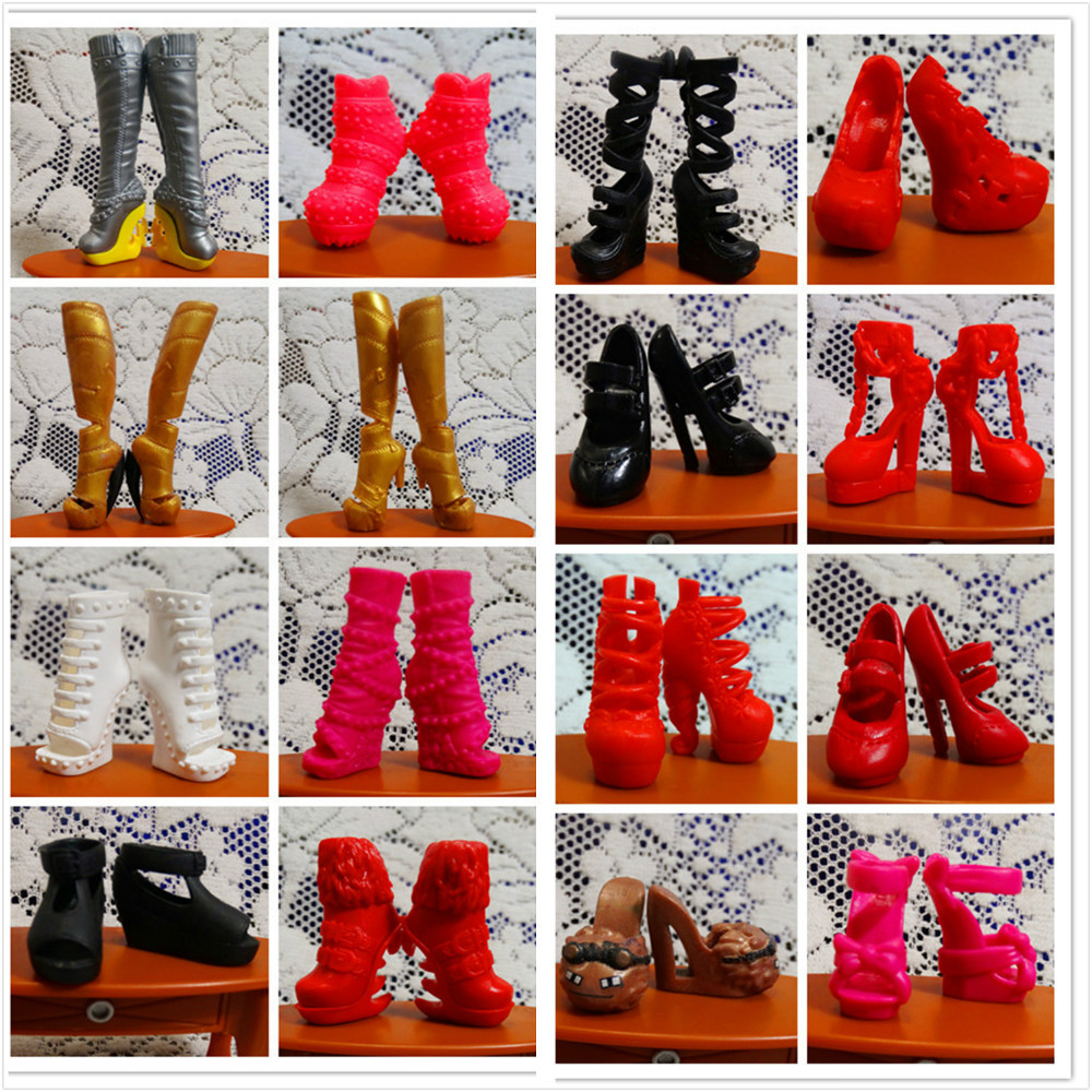 O for U 30Pairs/lot Toy Original High Quality Mixed-Style Beautiful Boots Sandles Monster Doll Shoes For Monster Dolls Outfits детские наклейки монстер хай monster high альбом наклеек