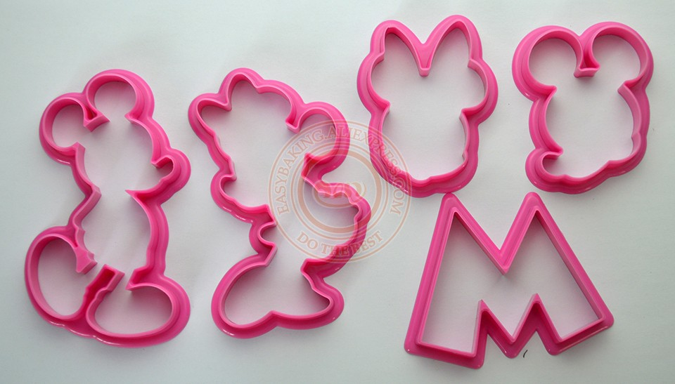 Kitchen Accessories Plastic Cartoon Mickey Mouse Biscuit Cookies Cutter Mould 3