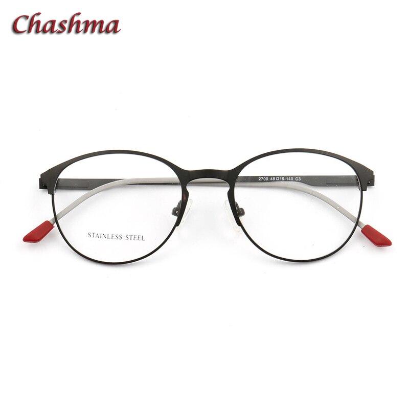 Donna Rotonda Occhiali Da Vista gafas mujer lente In Acciaio Inox Telaio Dell'ottica oculos de grau masculino optometria cornici occhio di uomini