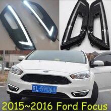 Автомобильный бампер головной светильник для фокусировки Дневной светильник 2009 ~ 2011/2012 ~ 2014/2015 ~ 2017 автомобильные аксессуары светодиодный дн...
