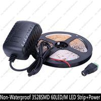 5M DC12V 3528SMD 300LEDs 8mm White PCB Flexible Strip Light 24key IR RGB Remote Controller 12V