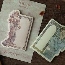 1pcs kawaii Retro goddess weekly plan Sticky Notes Post Memo Pad Korean stationery School Supplies Planner Stickers