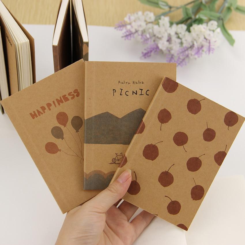 Wholesale Stationery Vintage Pastel Drawing Pastels Pockets Notedpad Lovely Notebook 8 Styles Pocket Book