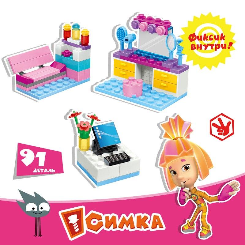Funlock Fixies Bricks Girl Series Assemble Plastic font b Toys b font for Children Creative Educational