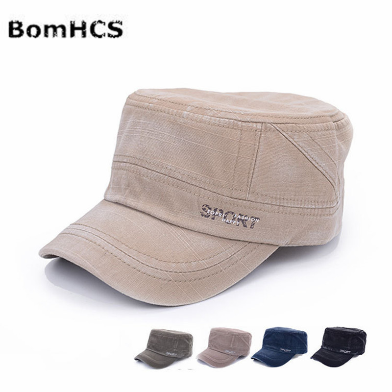 BomHCS Middle-aged Man Summer Cotton Letters Baseball Cap Breathable Adjustable Sports Hat F1736MZ4