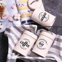 3Pcs/Set Tea Coffee Sugar Storage Canister Kitchen Spice Jar Candy Pot with Lid