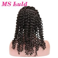 MS Lula Glueless Full Lace Human Hair Wigs For Black Women Deep Wave Brazilian Hair 130