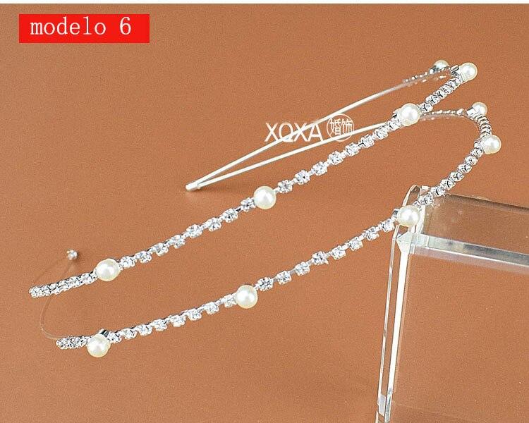 Moda feminina strass cristal cabeca bandagem no cabeca coroa Tiara de noiva de cabelo acessorios (14)