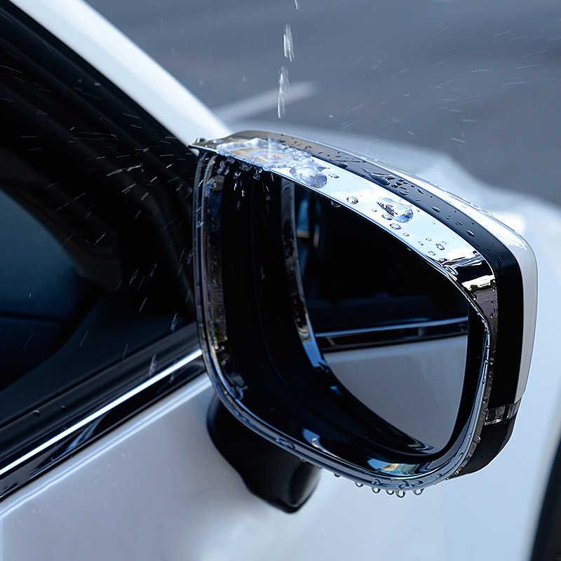 سيارة مرآة الرؤية الخلفية المطر الظل المطر شفرات مرآة خلفية الحاجب غطاء للمطر لمازدا CX-5 CX5 2017 2018 2019 اكسسوارات
