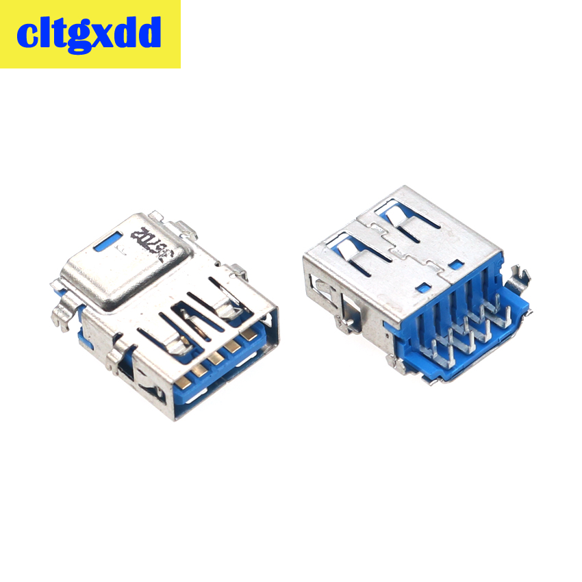 Cltgxdd 2-10pcs USB 3.0 Jack Connector Socket For Lenovo Asus Laptop Motherboard 3.0 USB Data Interface Female