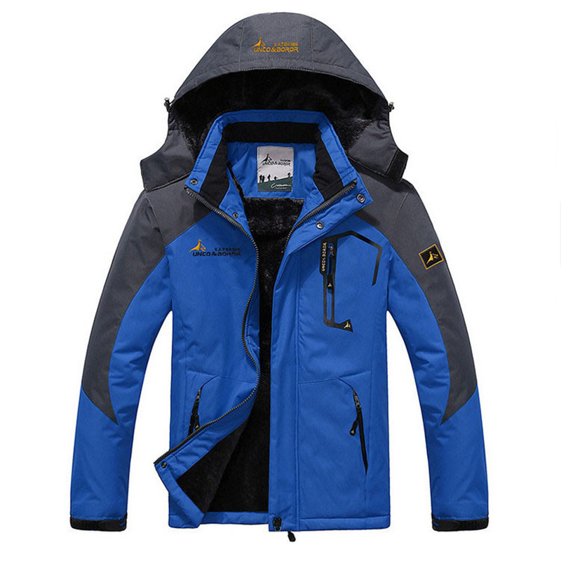 Men's Jacket Winter   Parka   Warm Inner Velvet Windproof Military Hooded Male Jackets Outdoor Sport Overcoat Hiking Camping Coats