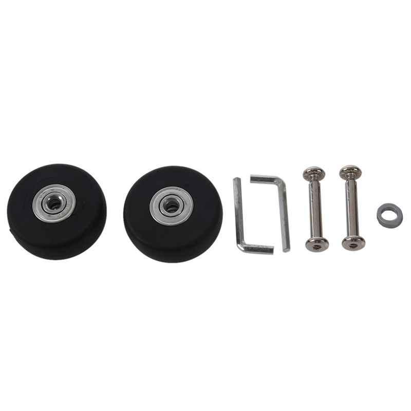 2 conjuntos de rodas de substituição de mala de bagagem eixos deluxe ferramenta de reparo od 50mm