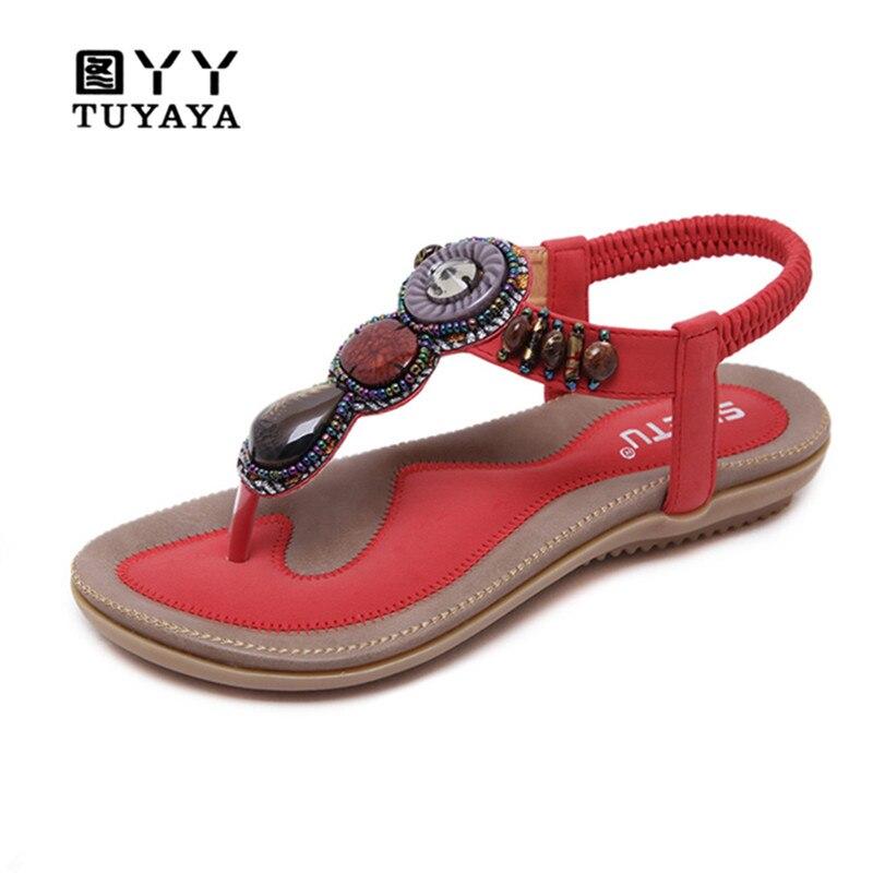 Sandales spartiates Femmes 2019 Nouveau PU Chaîne Perle chaussures à semelles compensées Été sandales femmes Partie De Mode sandales femme Taille 35-42