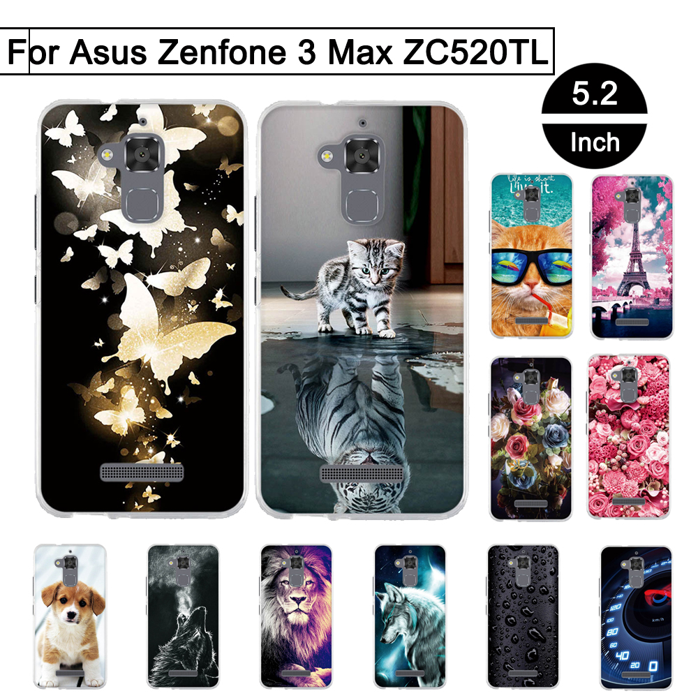 TPU <font><b>Case</b></font> For <font><b>Asus</b></font> Zenfone 3 Max <font><b>ZC520TL</b></font> 5.2 inch Back Phone Covers For <font><b>Asus</b></font> Zenfone 3 Max <font><b>ZC520TL</b></font> <font><b>Cases</b></font> For 3 Max <font><b>ZC520TL</b></font> Shells image