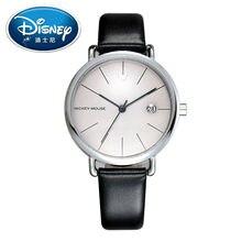 2017 Disney Kids Reloj Niños Reloj Fresco de La Manera Simple Relojes de Pulsera Niños Mickey Mouse reloj de Cuero de Regalo