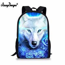 2019 Backpacks Women School Galaxy wolf Flower Custom Bags for Teen Girls Female Mochila Feminina Mujer Laptop Travel Sac A Dos недорго, оригинальная цена