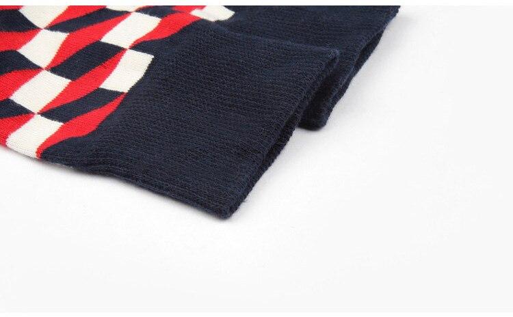 JULYS SONG Happy Socks Mens Funny Socks Brand Cotton Mens Dress Socks Novelty Warm Art Socks Socken Herren Thick Wool