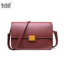 BRIGGS Shoulder Bag Women Designer Handbag High Quality Female Flap Bag Tote Soft Genuine Leather Small Crossbody Bag For Ladies цены