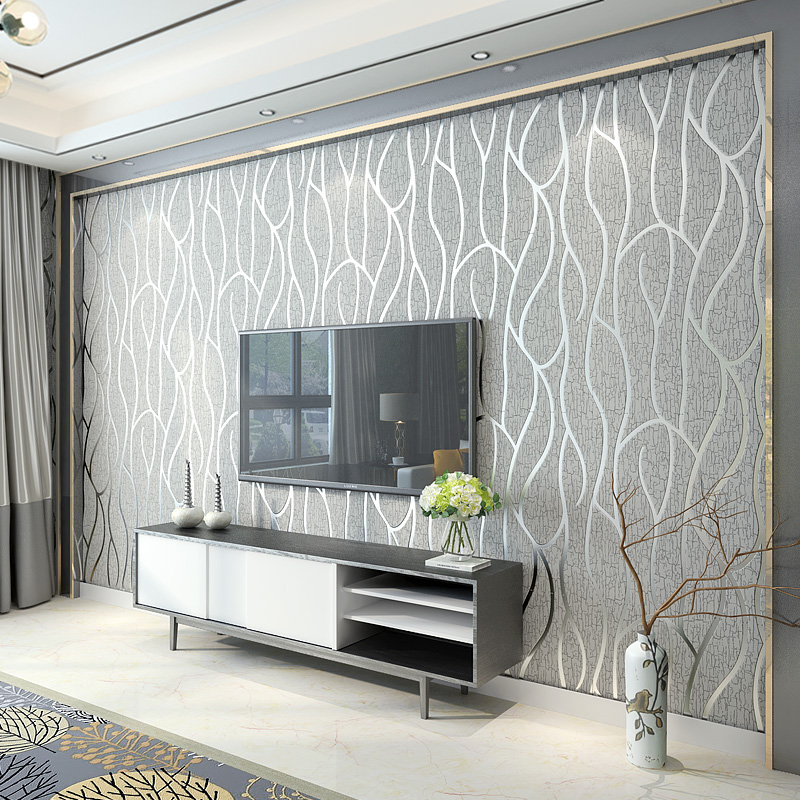 3D Wallpaper Modern Simple Non-Woven Wallpaper 3D Living Room TV Bedroom Background Wall Home Decor Papel De Parede 3D Paisagem