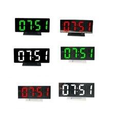 Цифровой будильник светодиодный Зеркало Часы Многофункциональный время отсрочки Дисплей тумбочка свет ЖК-дисплей настольный USB кабель платные часы