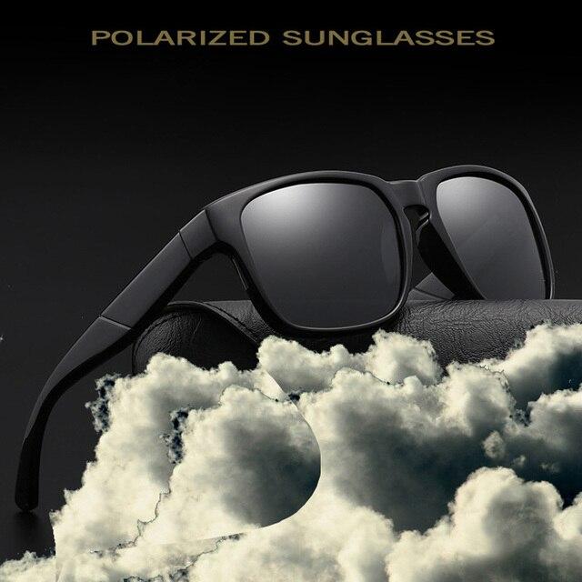 Reggaeon Новая мода женщин поляризованные очки мужские ретро солнцезащитные  очки унисекс квадратный Винтаж gafas Óculos bc2cc5257b9