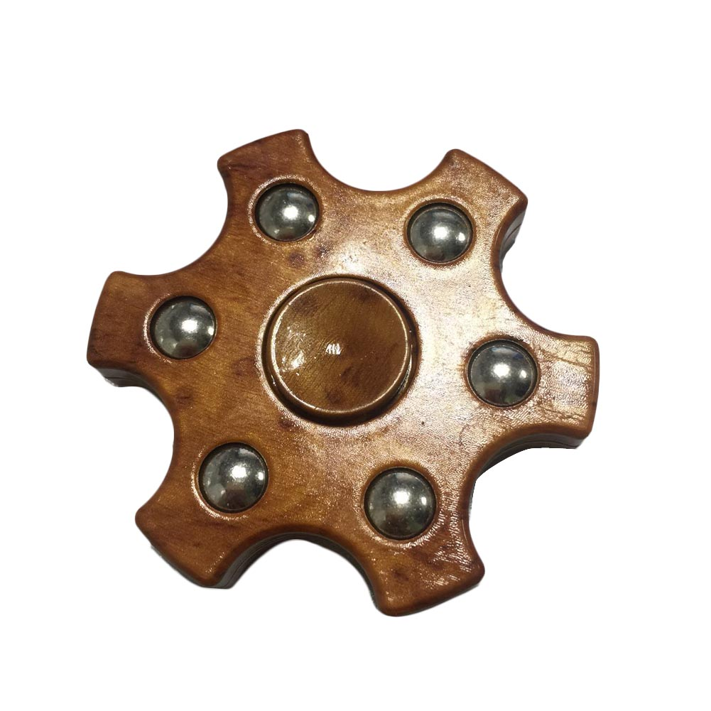 New Finger Spinner Wood Color Hand Fidget Puzzle Toy for Boy Children Speed EDC Spinner Top Focus Toys Rotation Time
