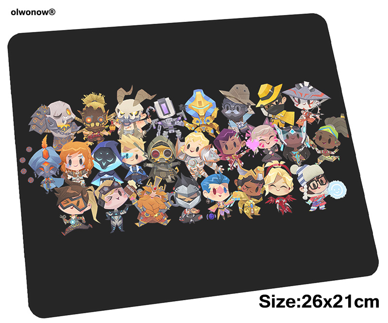 OW mousepad 26x21cm gaming mouse pad big gamer mat Christmas gifts game computer desk padmouse keyboard best play mats