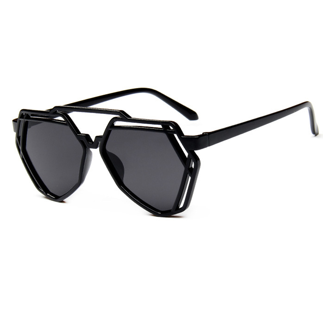 Fashion Women Polygonal Hollow Sunglasses Brand Designer Luxury Sun Glasses For Men