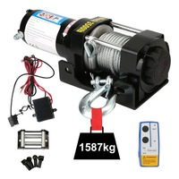 Professional 12V Electric Winch With Remote Control Durable 3500LB Auto Lifting Sling Heavy Duty Crane Equipment Lifting Tools