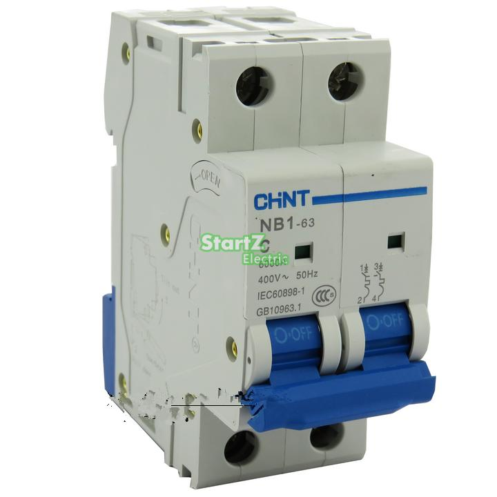 """C"" Type 2Pole 10Amp 400V 6KA CHNT NB1 63 MCB Circuit"