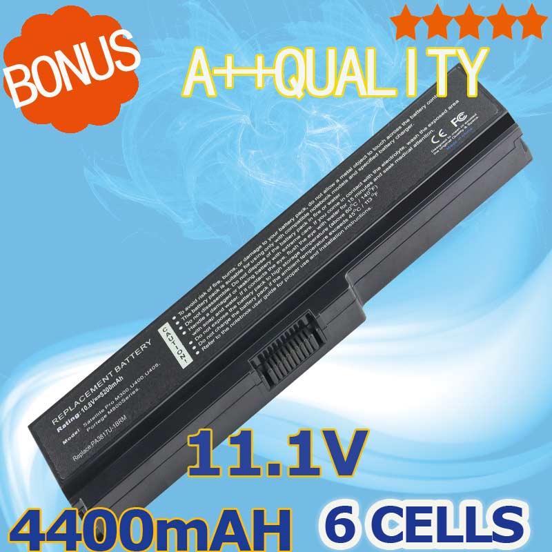 4400mAh Battery For TOSHIBA Satellite L750 L650 Series PA3816U-1BAS PA3817U-1BAS PA3817U-1BRS PA3816U-1BRS PA3817U