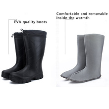 New Winter Mens Mid Calf Rubber Rain boots fishing hunting wear boots waterproof outdoor Waders  Rain Boot fish shoe