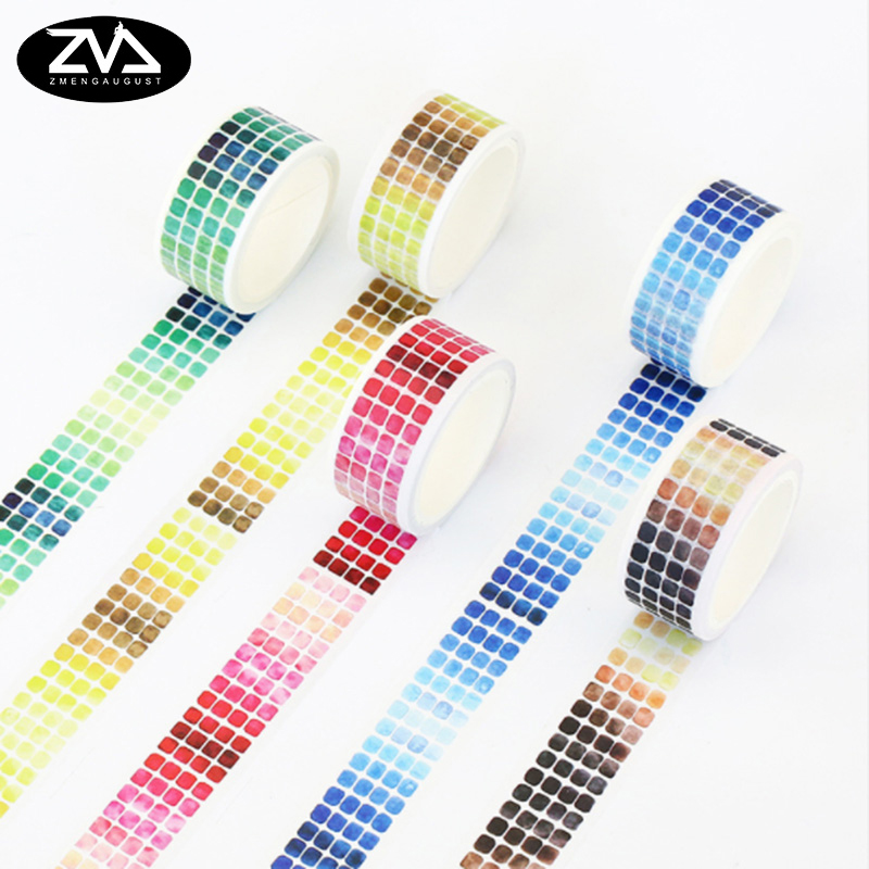 20mmX5m Gradient Series And Paper Tape Washi Tape DIY Decoration Scrapbooking Planner Masking Tape Office Stationery Stickers