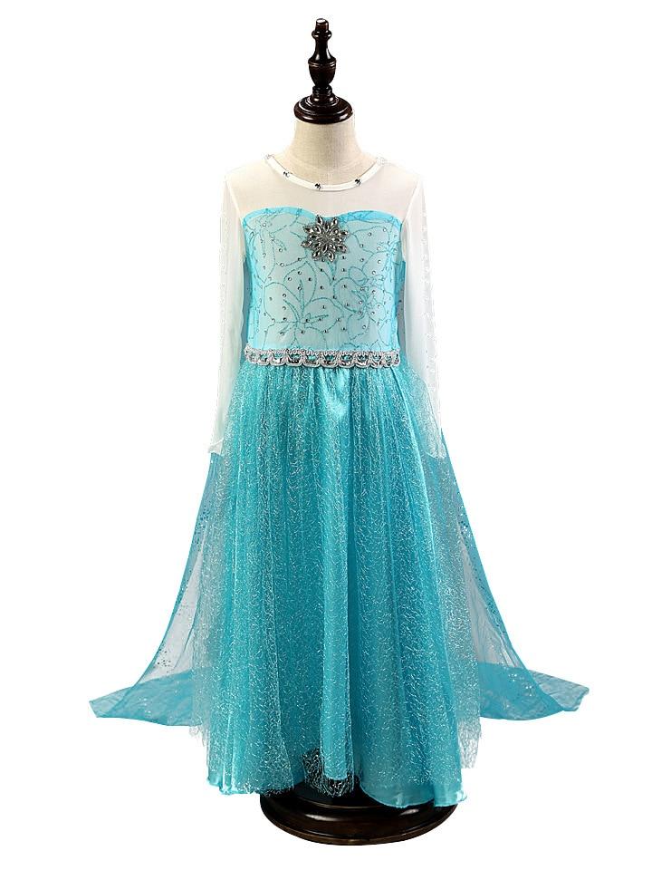 HTB12hXPmNPI8KJjSspfq6ACFXXaP 2019 Elsa Dresses For Girls Princess Anna Elsa Costumes Party Cosplay Elza Vestidos Hair Accessory Set Children Girls Clothing