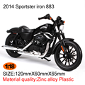 Motorcycle Models HD 2014 Sportster iron 883 1:18 scale Alloy Heavy motorcycle model motorcycle model Toys Collection Gifts