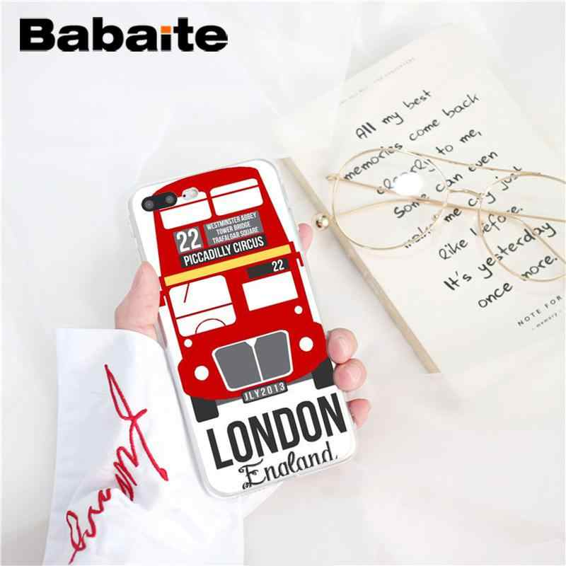 Ônibus de londres inglaterra Babaite Novidade telefone Fundas Phone Case para iPhone 5 8 7 6 6 s Plus 5S SE XR X XS MAX 10 Coque Shell