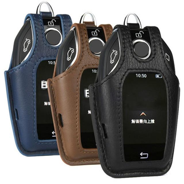 Genuine Leather Key Case For Bmw 2017 2018 7 Series Display Bag 740li