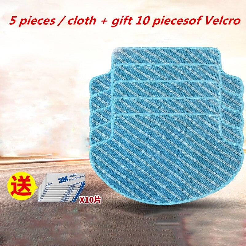 5pcs Vacuum Cleaner Parts Cleaning Mop For Ecovacs Deebot DT85/DT83/DM81/DM85