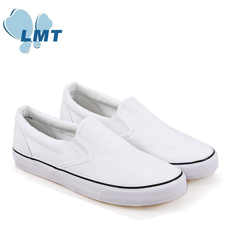 Drop shipping online shop Simple design plain white slip on shoes no laces  unisex Flats slip on shoes online shop-in Men s Casual Shoes from Shoes on  ... 0e03dc0e5