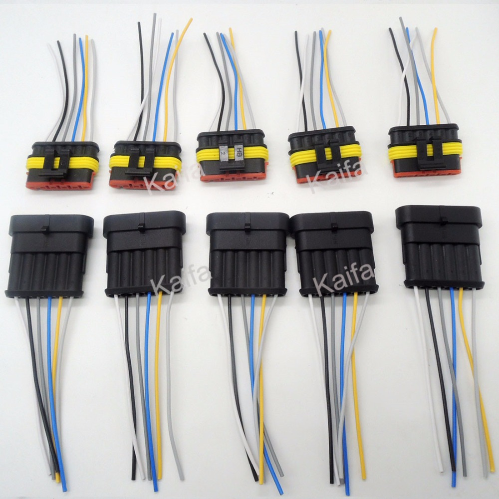 online buy whole auto electrical wiring harness from 5 sets 6 pin car waterproof electrical connector plug electrical wire cable car auto truck