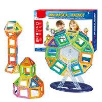 58PCS Magnetic Building Blocks Toys Educational Plastic Bricks Technic Designer Assembly Enlighten Blocks Construction