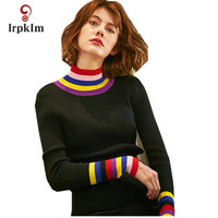 2018 New Women S Autunm Winter Knitted Sweater Ladies Spring Solid Slim Fit Pullovers Women Striped