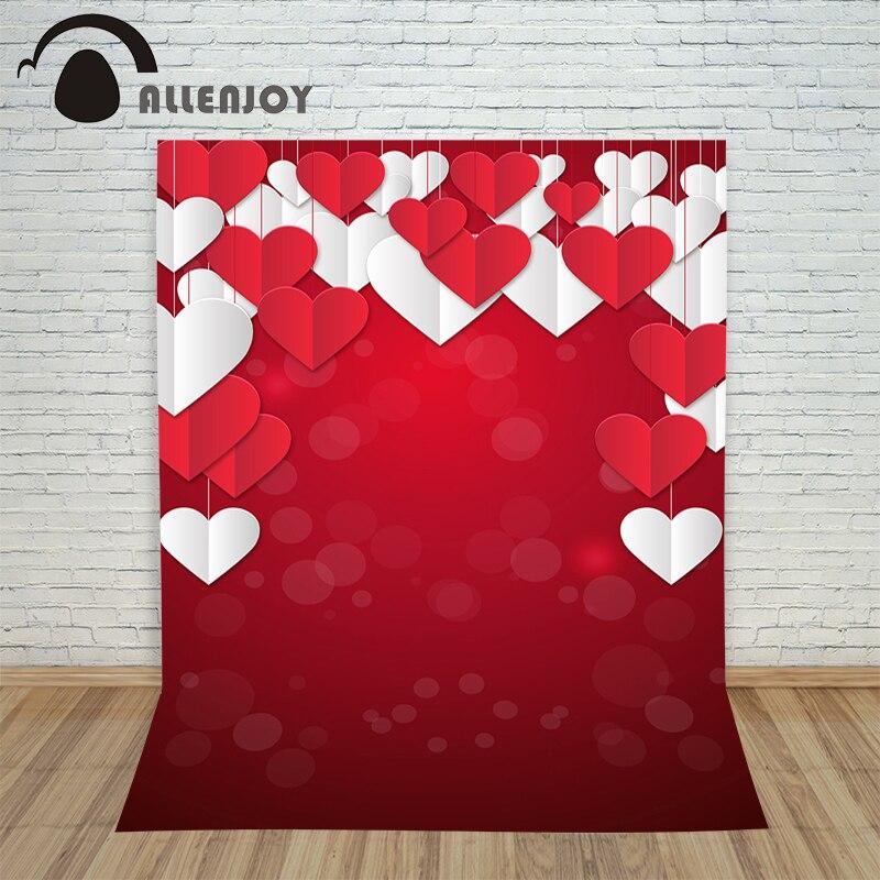 Allenjoy De Noël fond Photographie Amour Rouge de Valentine Jour livraison gratuite par UPS photocall lovly mignon