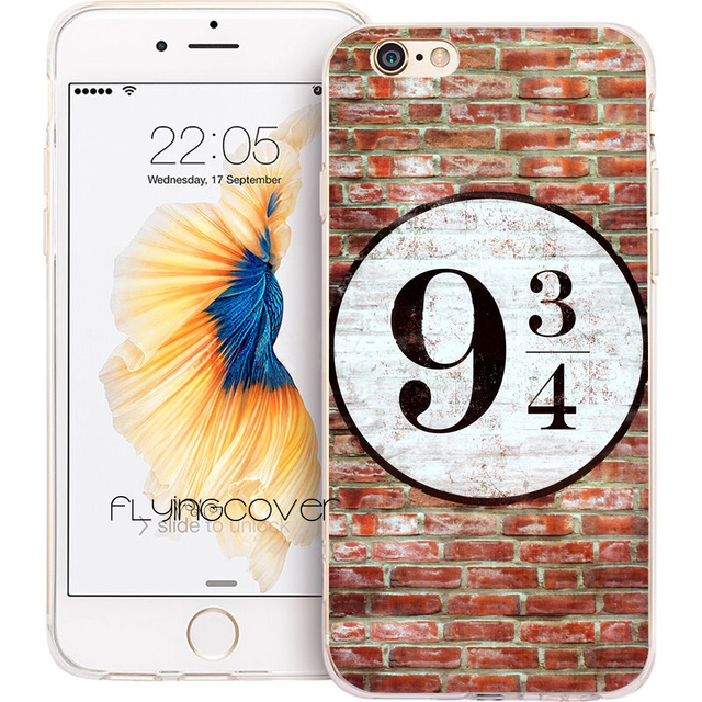 huge discount df81b dd535 US $4.98  Funda Harry Potter Platform Clear Soft Silicone Phone Cases for  iPhone XS Max XR X 7 8 6 6S Plus 5S 5 SE 5C 4S 4 iPod Touch 6 5.-in Fitted  ...
