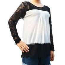 Autumn Blusas Lace Chiffon Blusa Long Sleeve Women Tops Blouse Shirt Feminina Vintage Chemise Femme Shirts