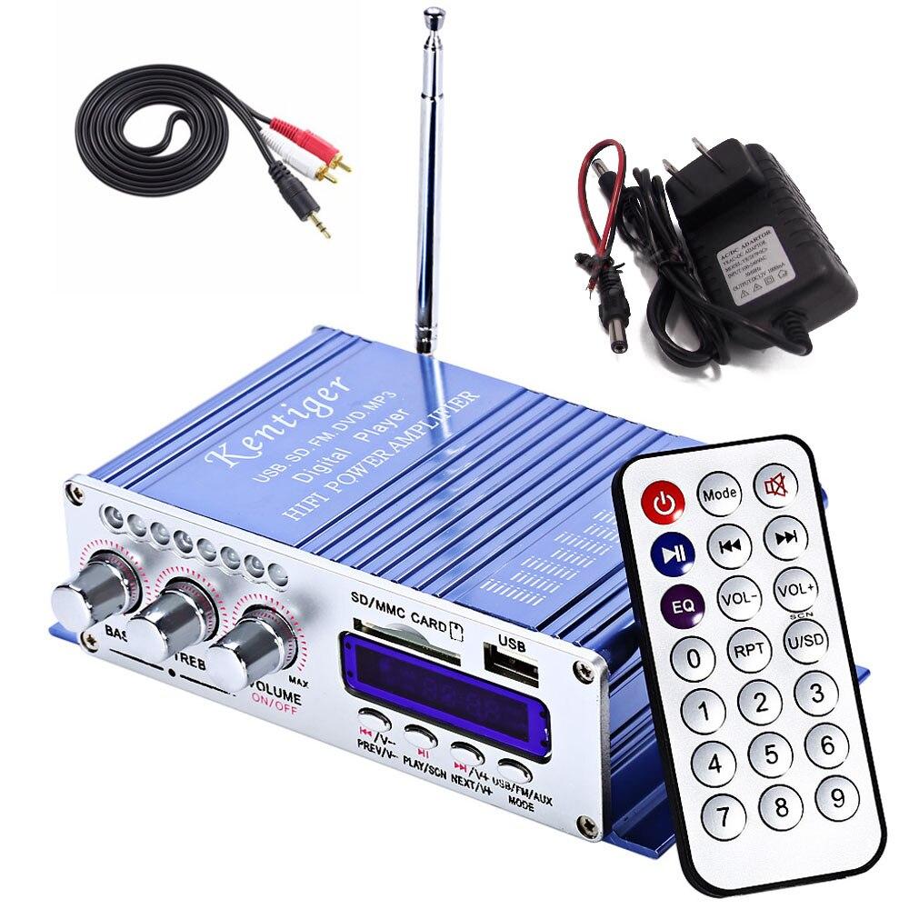 imágenes para Reproductor de MP3 Hi-Fi Altavoz LED 2 Canales de Energía de la Pantalla Digital Para La Motocicleta Auto USB FM Car Audio Estéreo Amplificador de Radio
